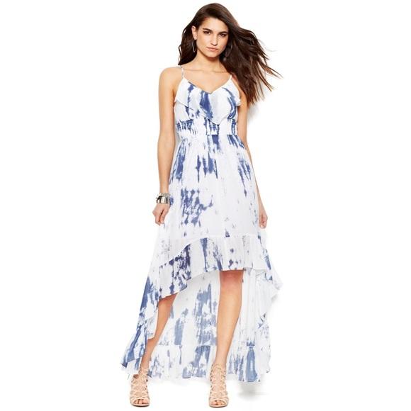964c510fcd Guess tie dye maxi dress hi-lo hem XS